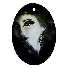 Goth Bride Oval Ornament (Two Sides)