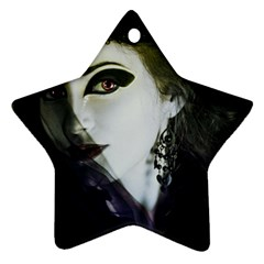 Goth Bride Star Ornament (Two Sides)