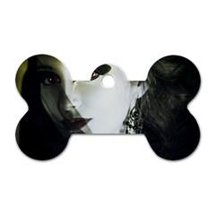 Goth Bride Dog Tag Bone (Two Sides)