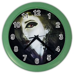 Goth Bride Color Wall Clocks