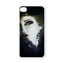 Goth Bride Apple iPhone 4 Case (White)