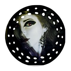 Goth Bride Round Filigree Ornament (Two Sides)