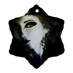 Goth Bride Snowflake Ornament (Two Sides)