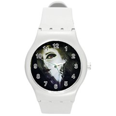 Goth Bride Round Plastic Sport Watch (M)