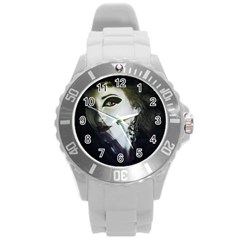 Goth Bride Round Plastic Sport Watch (L)