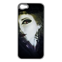 Goth Bride Apple iPhone 5 Case (Silver)