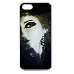 Goth Bride Apple Seamless iPhone 5 Case (Clear)