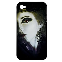 Goth Bride Apple iPhone 4/4S Hardshell Case (PC+Silicone)