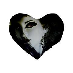 Goth Bride Standard 16  Premium Heart Shape Cushions