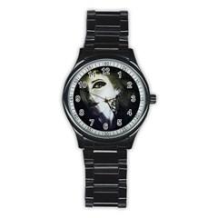 Goth Bride Stainless Steel Round Watch