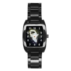 Goth Bride Stainless Steel Barrel Watch