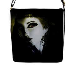 Goth Bride Flap Messenger Bag (L)