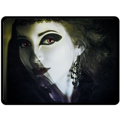 Goth Bride Double Sided Fleece Blanket (Large)