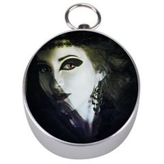 Goth Bride Silver Compasses