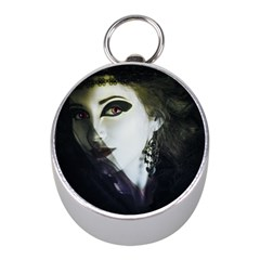 Goth Bride Mini Silver Compasses