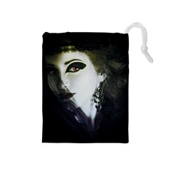 Goth Bride Drawstring Pouches (Medium)