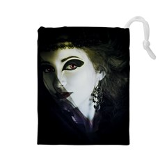 Goth Bride Drawstring Pouches (Large)