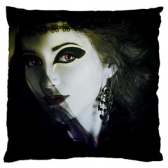 Goth Bride Large Flano Cushion Case (One Side)