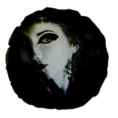 Goth Bride Large 18  Premium Flano Round Cushions