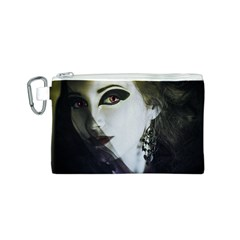 Goth Bride Canvas Cosmetic Bag (S)