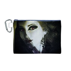 Goth Bride Canvas Cosmetic Bag (M)