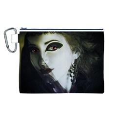 Goth Bride Canvas Cosmetic Bag (L)