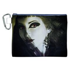 Goth Bride Canvas Cosmetic Bag (XXL)