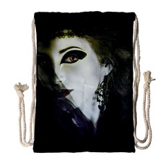 Goth Bride Drawstring Bag (Large)