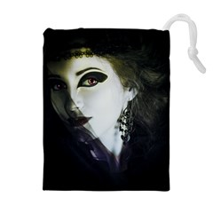Goth Bride Drawstring Pouches (Extra Large)
