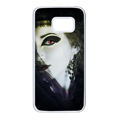 Goth Bride Samsung Galaxy S7 White Seamless Case