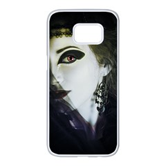 Goth Bride Samsung Galaxy S7 edge White Seamless Case