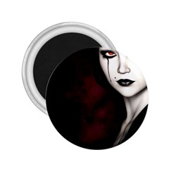 Goth Girl Red Eyes 2.25  Magnets