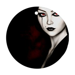 Goth Girl Red Eyes Ornament (Round)