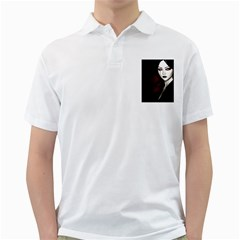 Goth Girl Red Eyes Golf Shirts