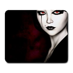 Goth Girl Red Eyes Large Mousepads