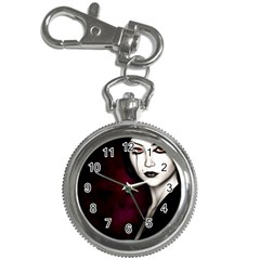 Goth Girl Red Eyes Key Chain Watches
