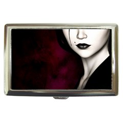 Goth Girl Red Eyes Cigarette Money Cases