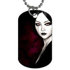Goth Girl Red Eyes Dog Tag (Two Sides)