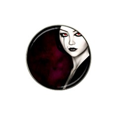 Goth Girl Red Eyes Hat Clip Ball Marker