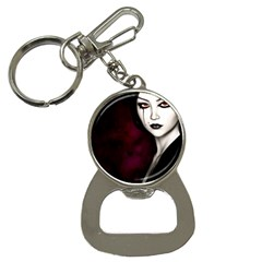 Goth Girl Red Eyes Button Necklaces