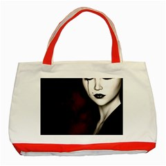 Goth Girl Red Eyes Classic Tote Bag (Red)