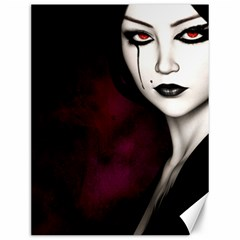 Goth Girl Red Eyes Canvas 12  x 16