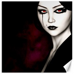 Goth Girl Red Eyes Canvas 16  x 16