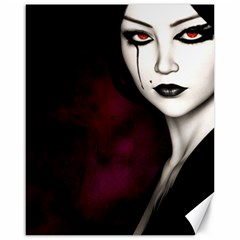 Goth Girl Red Eyes Canvas 16  x 20