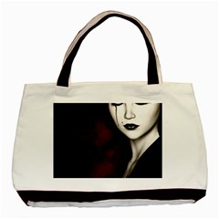 Goth Girl Red Eyes Basic Tote Bag (Two Sides)