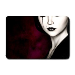 Goth Girl Red Eyes Small Doormat