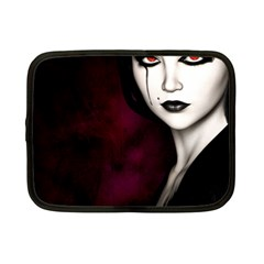 Goth Girl Red Eyes Netbook Case (Small)