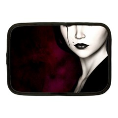 Goth Girl Red Eyes Netbook Case (Medium)