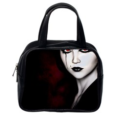 Goth Girl Red Eyes Classic Handbags (One Side)