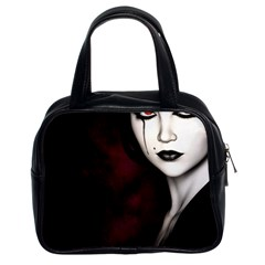 Goth Girl Red Eyes Classic Handbags (2 Sides)